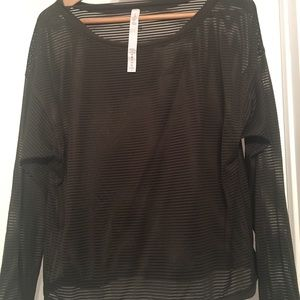 Lululemon Athletica olive see through top